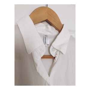 American Apparel Short Sleeve Front-Tie Button Up